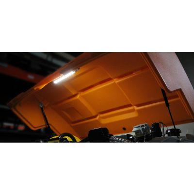Deckel orange komplett mit Gasdruckfedern und Montagezubehör