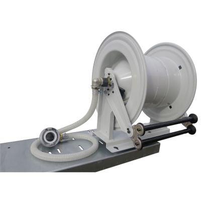 Automatikschlauchhaspel mit Federrückzug, Stahl lackiert, schwenkbar
