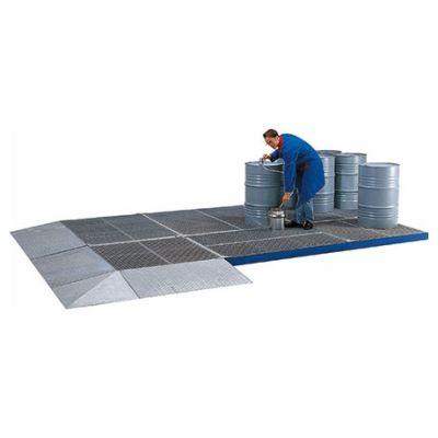 Auffahrrampen für Flächenschutzsysteme aus Stahl