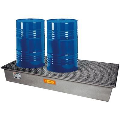 GFK-Auffangwanne 220 l für drei 200 Liter Fässer