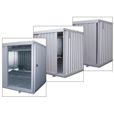 Sicherheits-Raumcontainer mit Schiebetor und natürlicher Belüftung