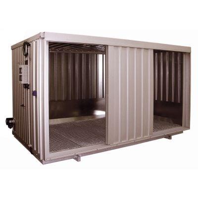 Sicherheits-Raumcontainer mit Schiebetor für wassergefährdende Stoffe